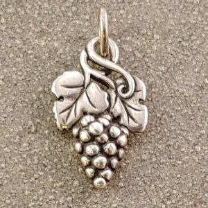James Avery Rare Retired Sterling Grapes Charm